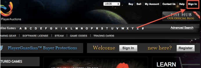 PA.Hub. How to sell trading Cards: Sign in