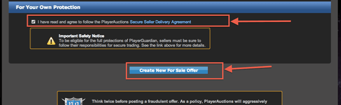 PA.Hub. How to sell trading Cards: Agree to Terms and Conditions