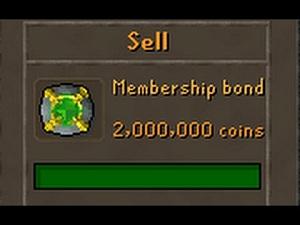 Sell OSRS Bonds