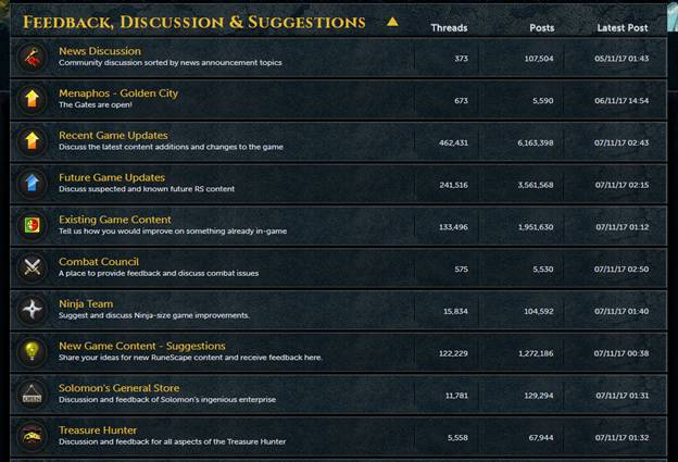 Runescape Forums - Official RuneScape Forum